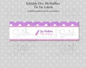 Doc McStuffins Tic Tac Prescription Labels - EDITABLE - Instant Download