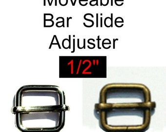 "20 PIECES - 1/2"" - Moveable Sliders - Nickel Plate or Antique Brass"