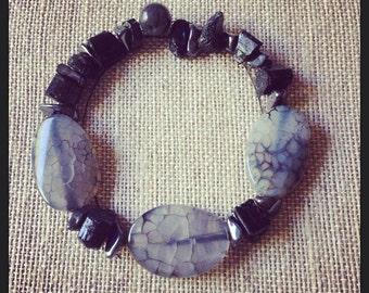 Earthy Tree & Rock Style Necklace Set