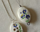 Spinner's Pendant Diz and Threader Set - Calico Blue Flowers