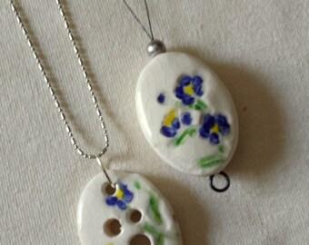Spinner's Pendant Diz and Threader Set - Calico Blue Flowers