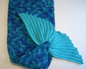 Mermaid fish tail blanket crochet toddler preschool size lap afghan ocean blues turquoise fish tail fin boy handmade lapghan Made To Order