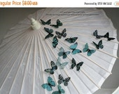 NEW YEAR SALE 6 x Special Teal 3D Butterflies great for Weddings, Crafts