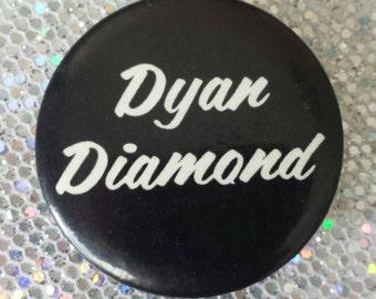 Vintage 1970's Dyan Diamond Rick n Roll Souvenier Fan Pin