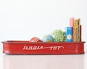 Vintage Red Wagon, Radio Tot Tray