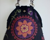Mini-Mary Poppins/ Handmade Tapestry Backpack/ Book bag/ Project bag/ Knitting Bag/-CIRSIUM