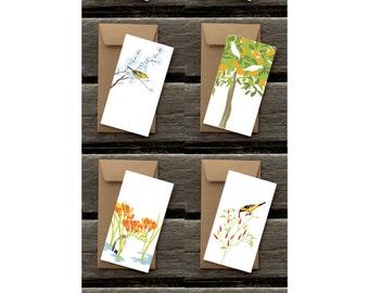 Birds in Gardens Assortment of Flat Panel Cards #2