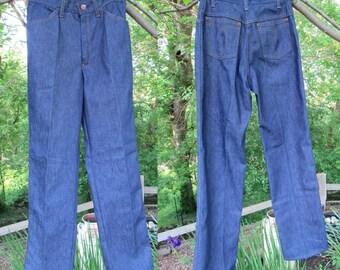 Vintage 1970s Sears Women's Denim High Waist Jeans size 10