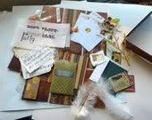 Sale Bo Bunny Pocket Letter kit pockets/ vintage / card making kit / Ephemera supplies /project life / scrapbooks, ATC cards, penpals, gifts