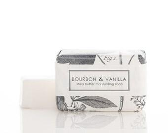 SALE - Bourbon & Vanilla Shea Butter Soap - Men's Soap - Vegan Soap