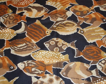 Brown Fish Fabric