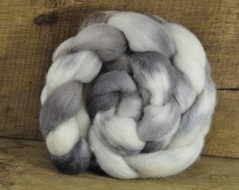 Hand Dyed Shetland Wool Top - 'Honesty Moons'