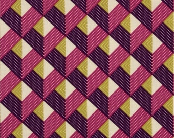 1 YARD - Joel Dewberry Fabric SALE, Bungalow, Chevron, Free Spirit, 100% Cotton