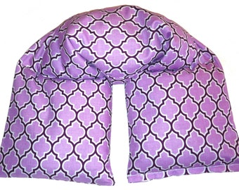 Neck heat therapy bag - 3 SIZES -  Microwave heating pad, cold therapy, spa neck wrap - Rice Flaxseed - Lavender Peppermint
