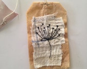 Tea Bag Art - flower