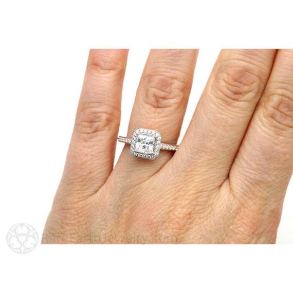 Favori Toujours un Moissanite fiançailles bague carré bague diamant KE47