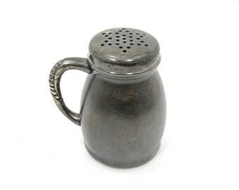 Antique Pairpoint Silverplate Sugar Shaker or Muffineer, 4 Inch, Star Top, Late 1800s Victorian Era, Quadruple Plate, Kitchen Ware Decor
