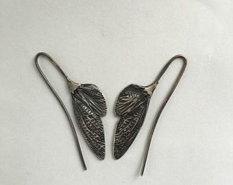 cicada wing earrings 12 gauge