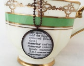 Mamma Word Necklace~New Mom Vintage Dictionary Word Pendant~Gift for Mother~ Mom Keepsake Jewelry~Baby Shower Gift~One Word Necklace