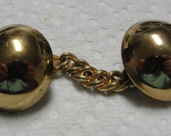 Vintage Gold Tone Dome Sweater Holder
