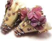 Gilded Plum Ivory Cones