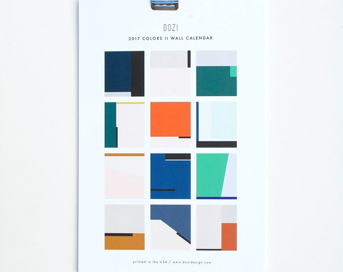 2017 Wall Calendar - Colors II