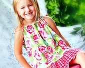 SALE Pillowcase Dress Pattern with ruffles Tutorial by Whimsy Couture 0 months-12 girls PDF Instant