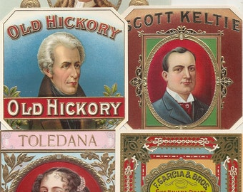 43 different 1930s plus TOBACCO and CIGAR LABELS