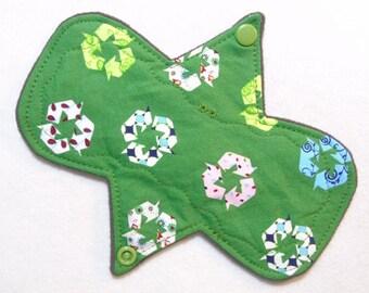 """Organic Top 7.25"""" Regular """"Recycle"""" - Reusable Cloth Menstrual Pad (7MOC)"""