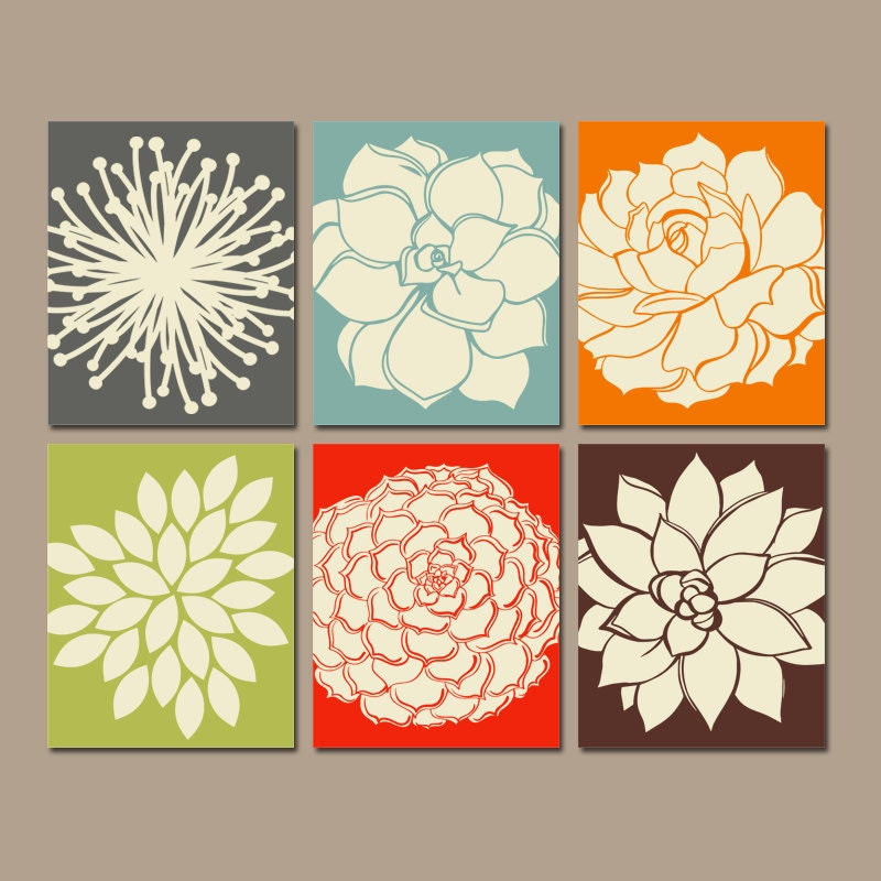 Flower wall art kitchen wall art canvas or prints bathroom - Kitchen canvas wall decor ...