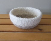 Felted Two-Toned Natural Bowl - In Stock - Ready to Ship
