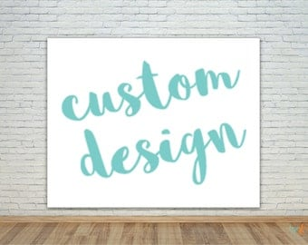Custom Design, vinyl photo backdrop/banner, step and repeat, party, corporate, logo, birthday, sweet 16, wedding, photo shoot, photobooth