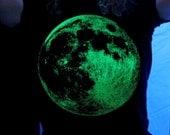 Glow in the Dark Full Moon unisex tee