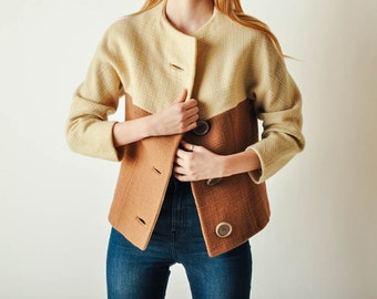 Vintage Mod Color Block Jacket