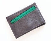 Womens Zipper Wallet, Small Wallets for Women, Personalized Womens Leather Wallet with Coin Pocket, The Frances in Dark Slate Grey
