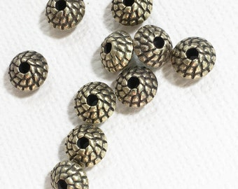 30 pcs of antique brass Rondelle spacer beads 7x4.5mm,  metal spacer beads