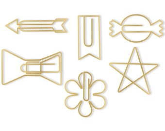 Gold Shapes Oh Goodie! Decorative Paper Clips 24/Pkg (660230)