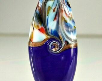Blue Glass Lampwork Focal Bead SRA