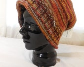 Wool Adult Hand-knit Hat  made with Hand-spun