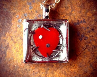 Heart and Nails Pendant - Silver Addition