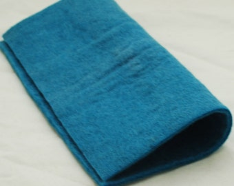 "100% Wool Felt Fabric - Approx 3mm - 5mm Thick - 30cm / 12"" Square Sheet - Cerulean Blue"