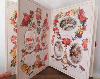 Victorian Photograph Album Inspired by Hearts and Flowers Scrapbooking Album Antique Valentine Photo Album