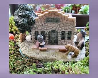 Miniature House,   Train Station, Railway Tracks ,  Fairy Garden, gift for him - Birthday Gift