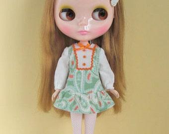 Paisley smock dress for Blythe