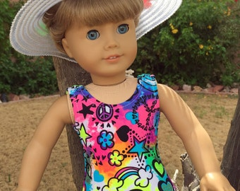 18 inch Doll Clothes  Peace Sign Swimsuit