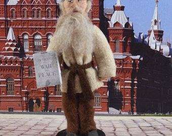 Leo Tolstoy Doll Miniature Russian Author and Writer