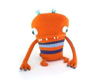 """Plush Stuffed Monster """"Dedrick"""" Little Cotton Monster"""