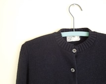 Vintage Ladies Sweater// Black Cardigan// Acrylic Orlon// 1950's Fashion// Laurel Ann