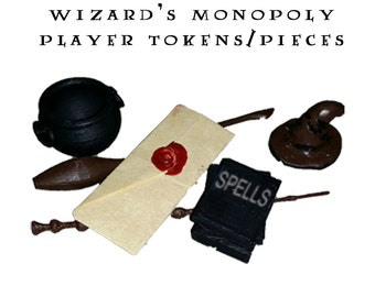 Player Pieces/Tokens - Wizard's Monopoly