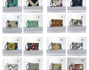 Square Wristlet Zipper Pouches